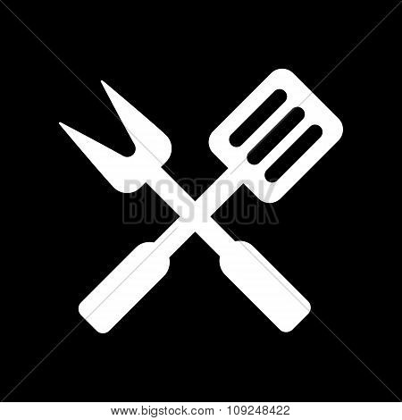 The bbq icon. Barbecue and kitchen, cook symbol. Flat Vector