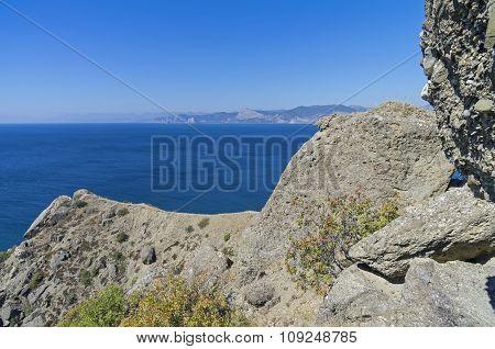 Coastal Cliffs. The Black Sea Coast.