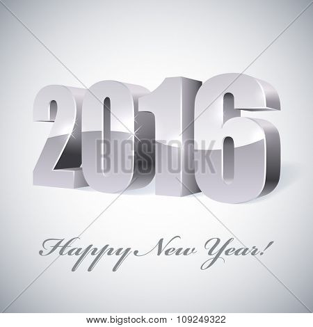 New 2016 year glossy figures vector illustration.