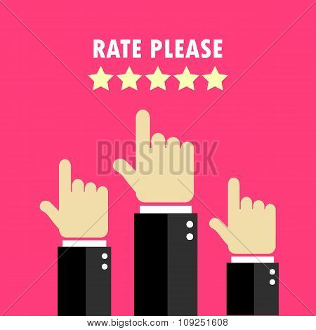 Rate hands poster