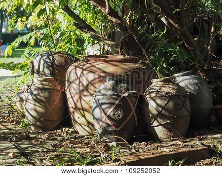 Old Big Water Jars