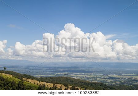 Mountain And Sky In Thailand
