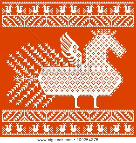Russian and ukrainian folk embroidery, patterns. Vector illustration.