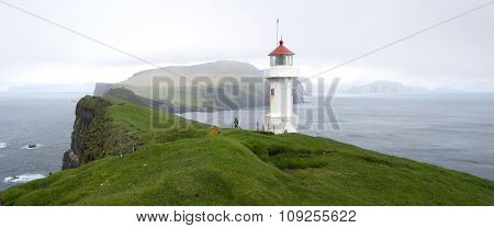 Lighthouse On Mykines Holmur