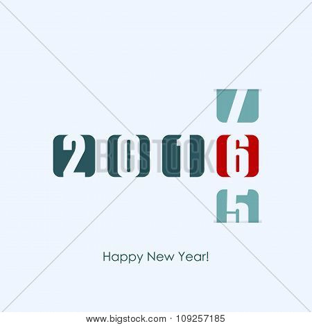 2016 new year counter. Vector illustration.