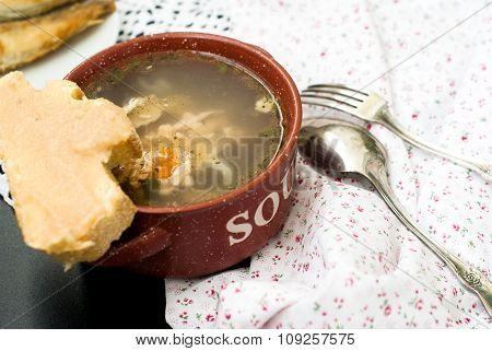 Soup made from fish