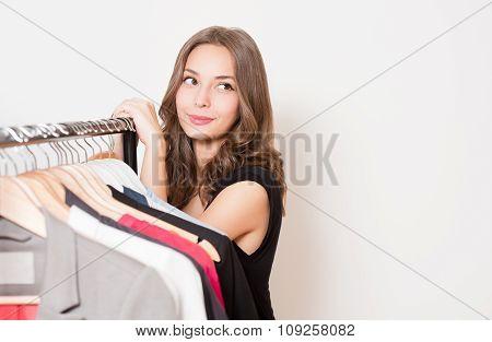 Cute Young Shopper.