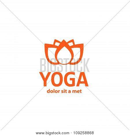 template logo for yoga studios.