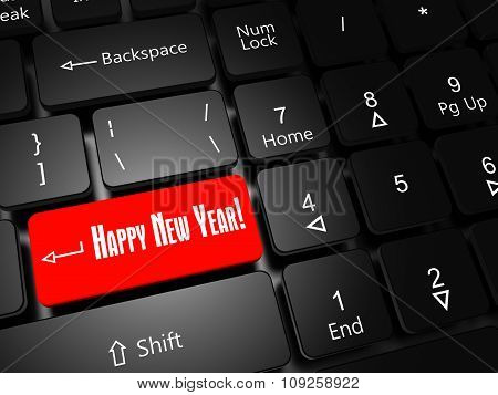 Button Happy New Year