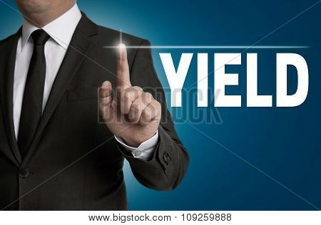 Yield Written By Businessman Background Concept