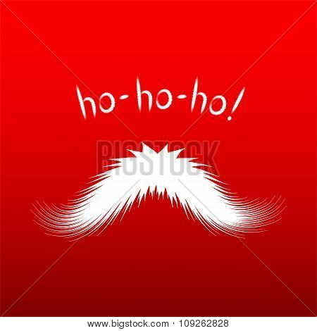 Santa's mustache vector isolated on red background
