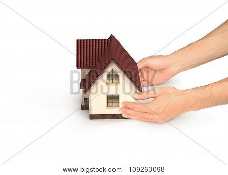 Hands With House, Real Estate Concept