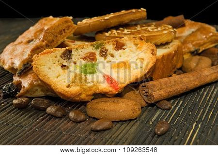 Image Of Tasty Cookie On A Table Close-up