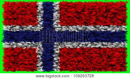 Flag of Norway, Norwegian flag made from clouds