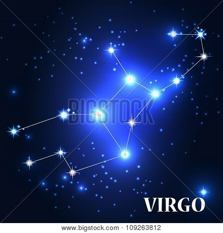 Symbol. Virgo Zodiac Sign. Vector Illustration.