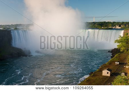 Niagara Falls At Sunrise, Ontario, Canada