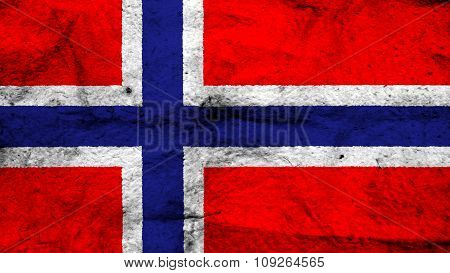 Flag of Norway, Norwegian flag painted on wool