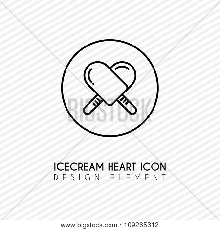 Outline Ice Cream Heart Icon