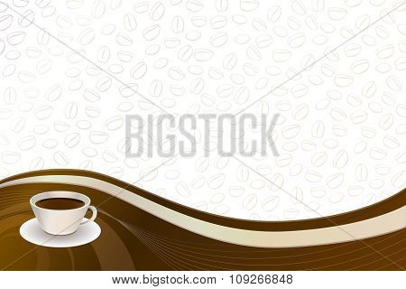 Abstract background coffee brown beige cup vector