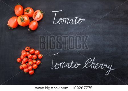 Fresh Tomatoes And Tomato Cherries