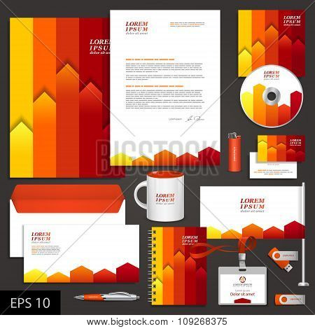 Corporate Identity Template With Color Stripes