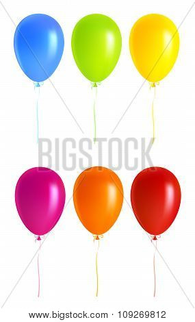 Set Colorful balloons