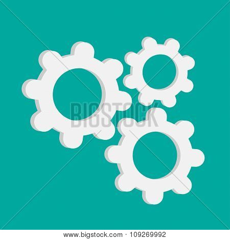 Abstract Gear And Cog Wheels. Template. Flat Design.