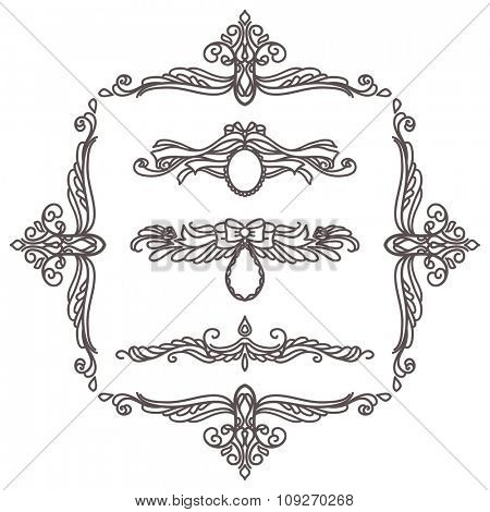 Set of vector graphic decorative elements for design
