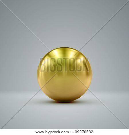 3D golden sphere