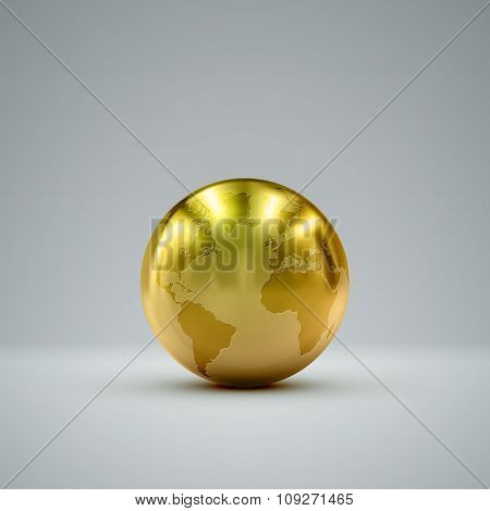 3D metallic globe
