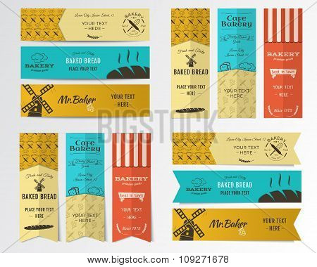 Vector Bakery banners
