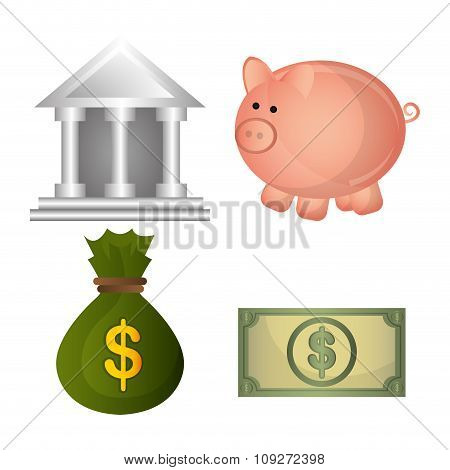 Bank,global economy and money savings