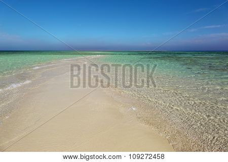 white sand spit - tropical beach