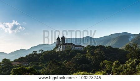 Church San Francisco de Paula in Ouro Preto, Minas Gerais, Brazil