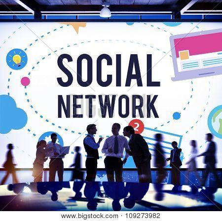 Social Media Network Online Internet Concept