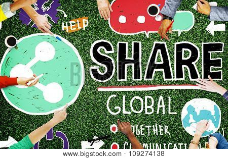 Share Social Media Connection Social Networking Communication Concept