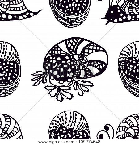Seamless Pattern Handdrawn Illustration From The Collection Of Exquisite Delicacies Of Cuisines Of T
