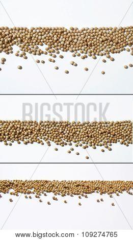 Small granules lined up as  menu borders