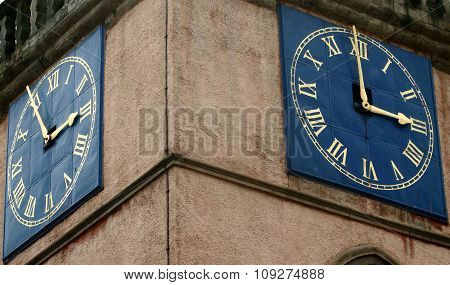 Tolbooth clock face