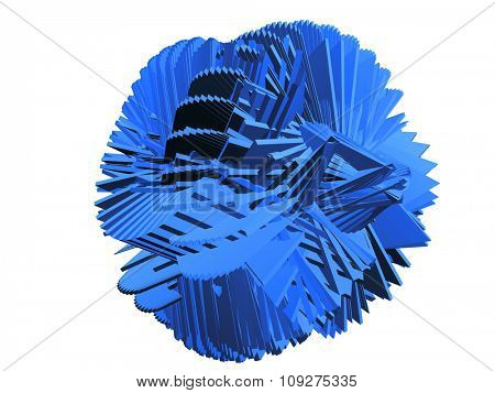 Abstract Chaos shape. Unique blue shape. Mental disorder. Blue mind