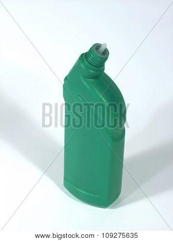 Colorful bottle. Orange plastic bottle isolated on white