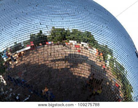 Close up of a outdoor disco ball