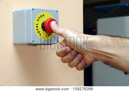 Hand press Full stop button