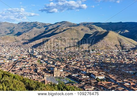 Aerial View Of The City In Cusco, Peru