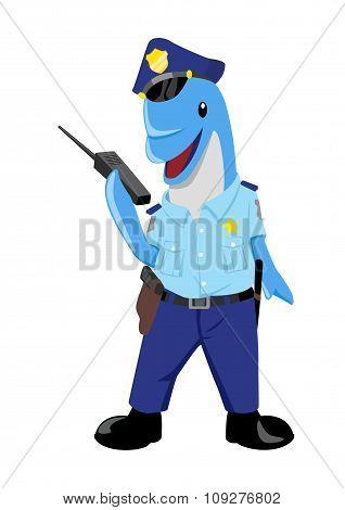 Dolphin as a policeman