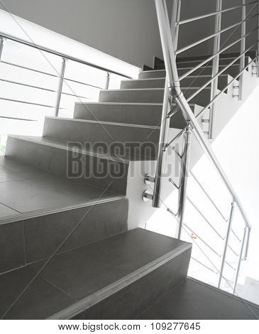 Modern staircase in an office building