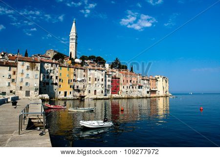 Colorful mediterranean architecture. Summer vacation destination in Croatia