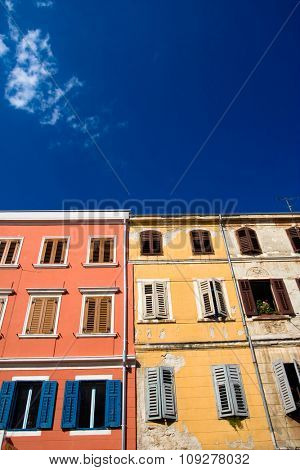 Colorful mediterranean architecture