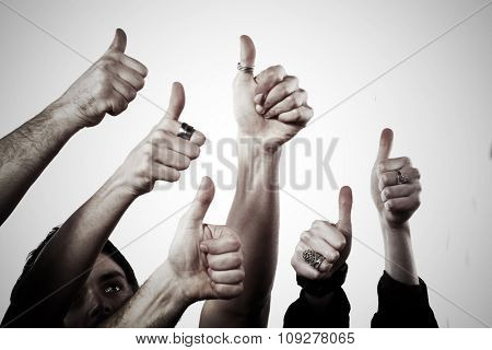 OK concept symbol. People thumbs up - OK sign