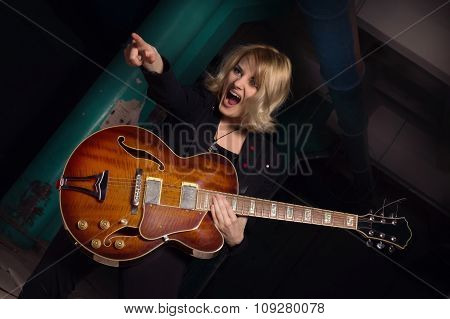 Rock Star Playing Guitar